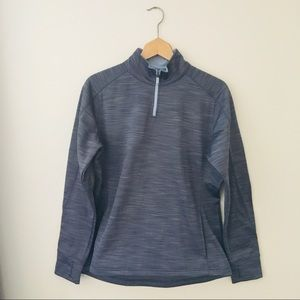 Majestic Heather Gray Quarter Zip Popover Sweater